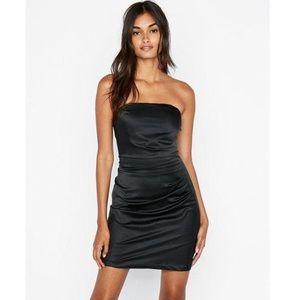 Strapless Ruched Mini Dress